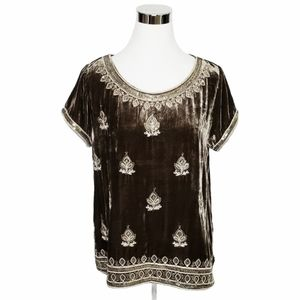 Calypso St Barth Velour Sequin Top Size Sm…
